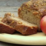 Applesauce Walnut Bread with Apple