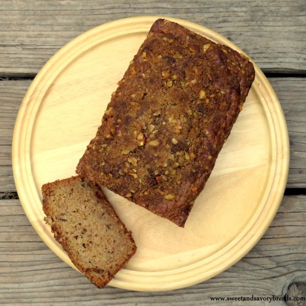 Applesauce walnut bread from above
