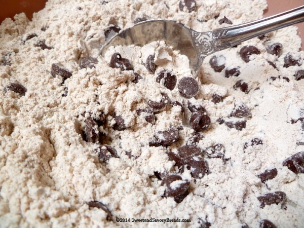 Dry ingredients for Zucchini Bread with Chocolate Chips