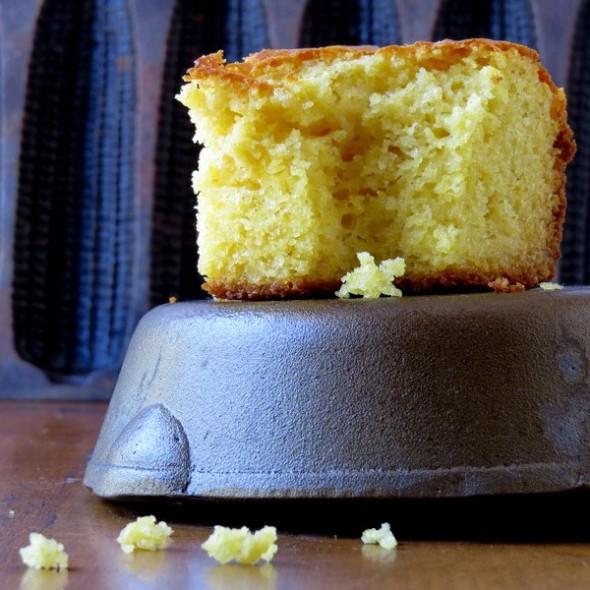 Sweet Cornbread on a Cast Iron Pan