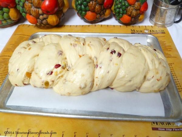 Stollen dough raised double