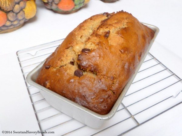 Peanut Butter Banana Bread With Candied Bacon