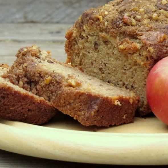 Applesauce Walnut Bread with Apple