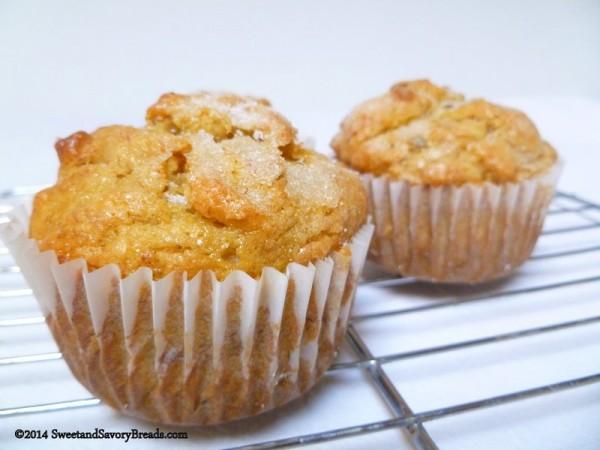 Banana Persimmon muffins