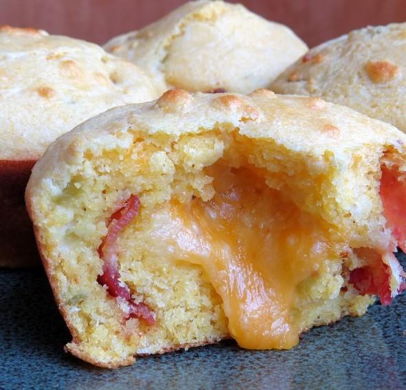 Bacon Cheddar Chili Cornbread Muffin