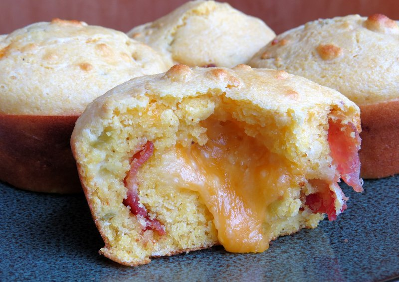 Bacon Cheddar Chili Cornbread Muffin