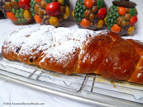 Brush with butter and sprinkle with powdered sugar